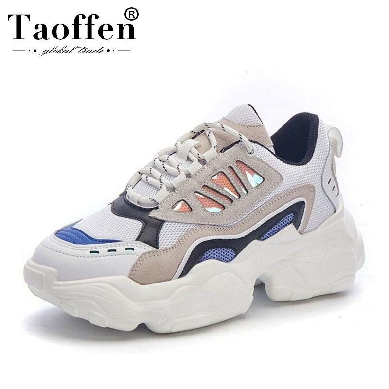 Initiative Taoffen Echtem Leder Hohe Qualität Marke Frühling Junges Vulkanisierte Schuhe Frauen Club Turnschuhe Täglich Casual Schuhe Größe 35-39 Vulkanisierte Damenschuhe Schuhe