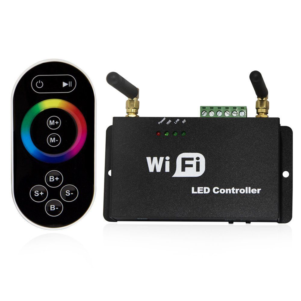 Touch Screen Remote Controller Wifi Wireless For RGB LED Strip IOS Android Phone mini wifi 01 smart wireless 3 ch wi fi ios android phone controlled rgb light strip controller