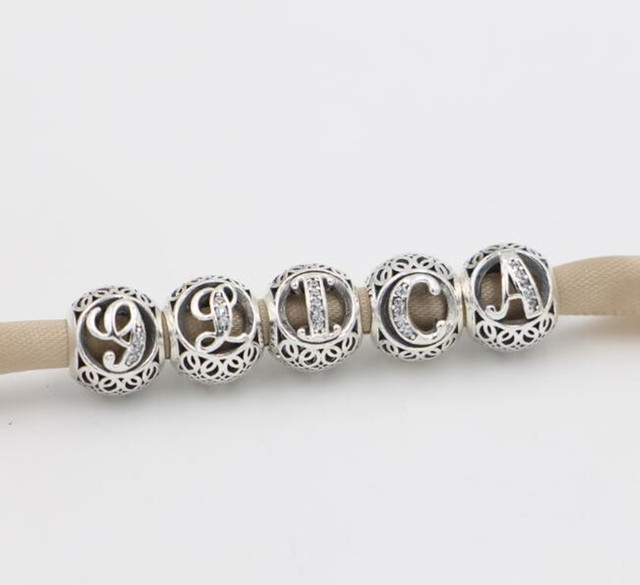 925 sterling silver charms alphabet numbers 26 letters a b With jewelry numbers and letters