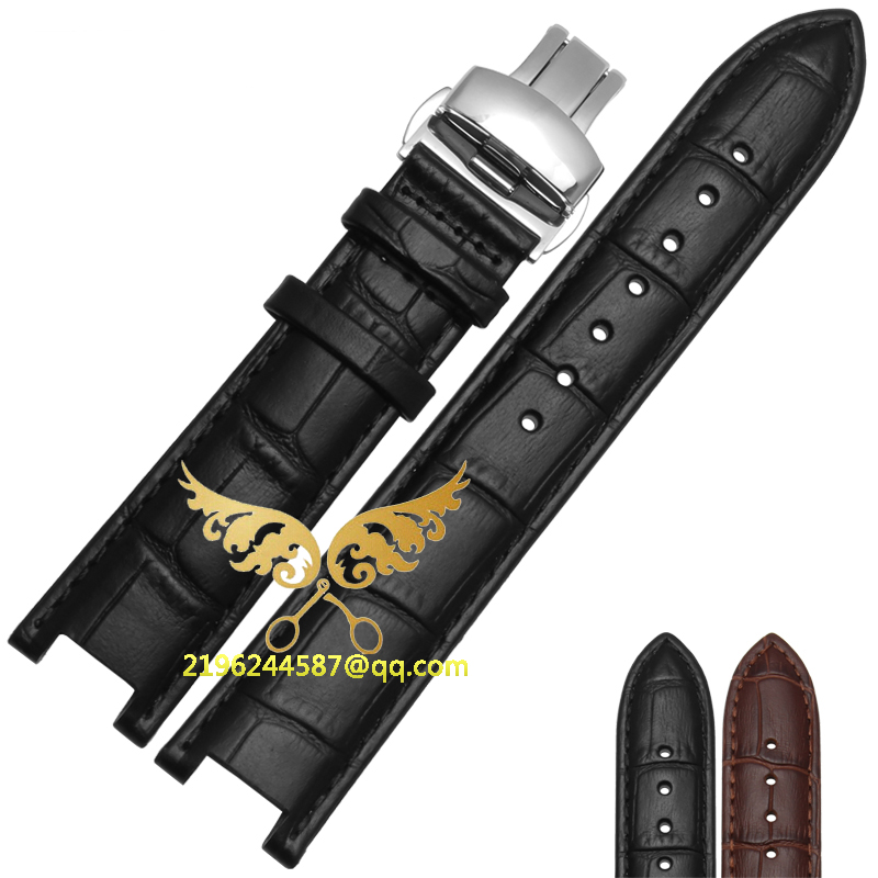 20*11MM 22*13mm High Quality Genuine Leather Cowhide  Watch Strap For GC With Stainless Steel Buckle Free Shipping