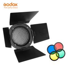 Akcesoria do lamp błyskowych Godox BD-03 4 kolor kawałek siatki o strukturze plastra miodu drzwi stodoły dla Photo Studio Flash Godox K-150 K-180 250SDI 300SDI e250 tanie tanio Universal Mount Flash 13 8x13 8x5 4cm 650g 4 Color