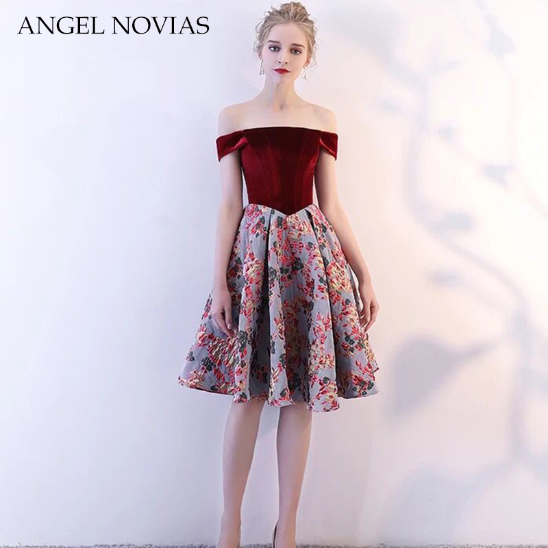 Sexy Short Elegant Robe De   Cocktail     Dress   2018 Party   Dress   ANGEL NOVIAS