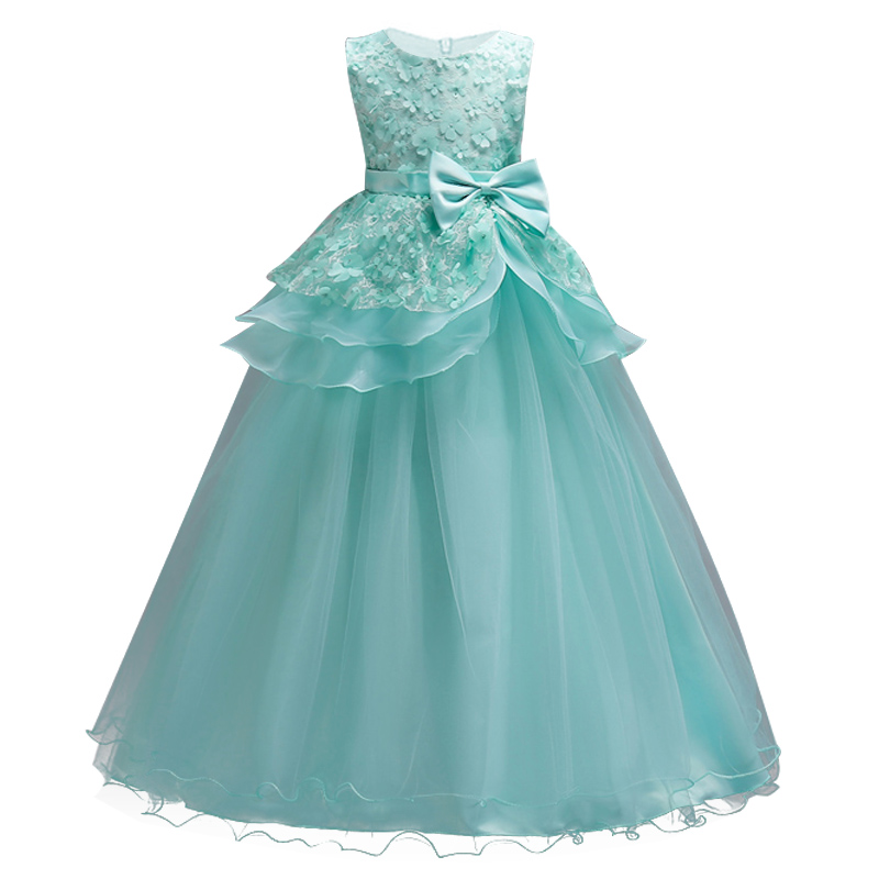 Summer Princess Tutu Girls Dress Beautiful Teenagers Wedding Dress ...
