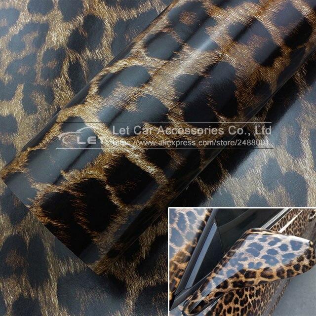 car styling Leopard Vinyl Wrap Sheet Roll Film Car Sticker Decal Sheet