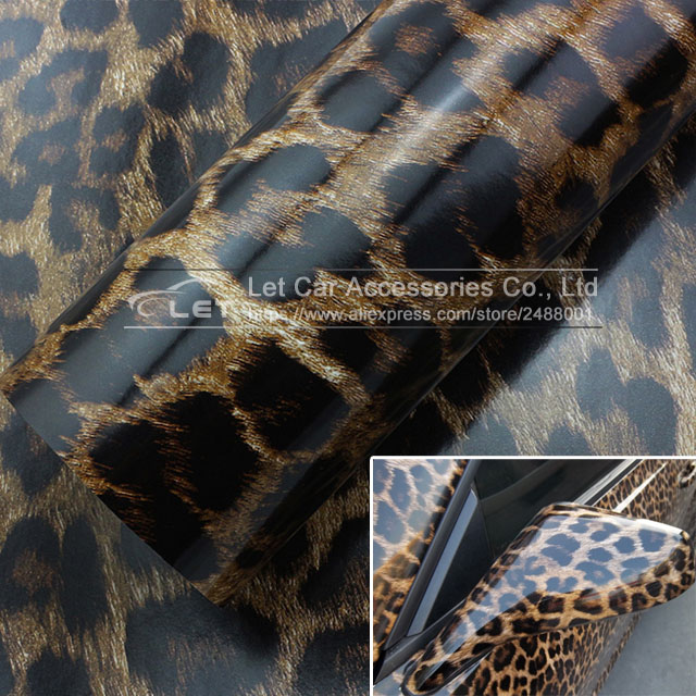 Car Styling Leopard Vinyl Wrap Sheet Roll Film Car Sticker Decal Sheet