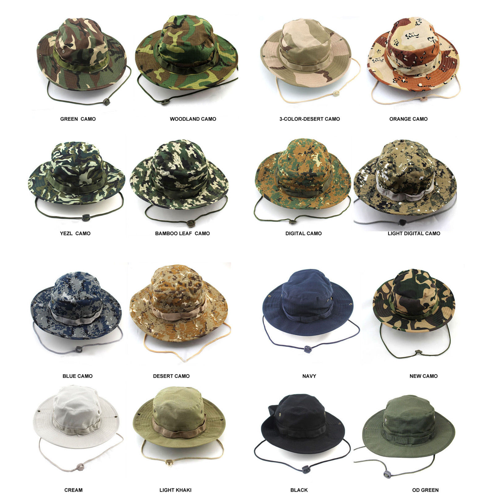 UNISEX CLASSIC US COMBAT ARMY STYLE GI BOONIE BUSH JUNGLE HAT SUN CAP COTTON RIPSTOP цены