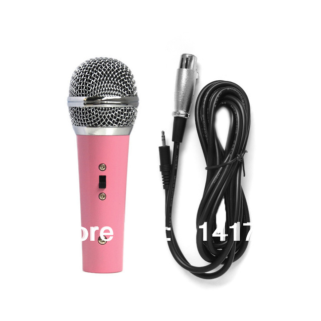 835a7b84abe9f Popular Vintage Toddler microphone Lovely Pink Mini kid singing microphone  Studio Speech Mic for Kids free shipping