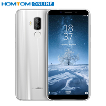 HOMTOM S8 5.7 Inch HD 18:9 Smartphone Android 7.0 16MP+5MP Dual Camera Mobile Phone Octa Core 4GB RAM 64GB ROM Fingerprint ID