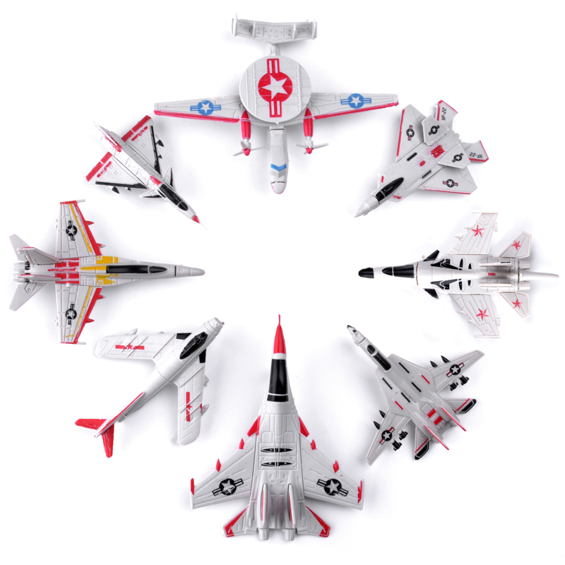 1PCS 4D Plastic Assembled Airplane Puzzle Assembling Military Fighter Toys For Children
