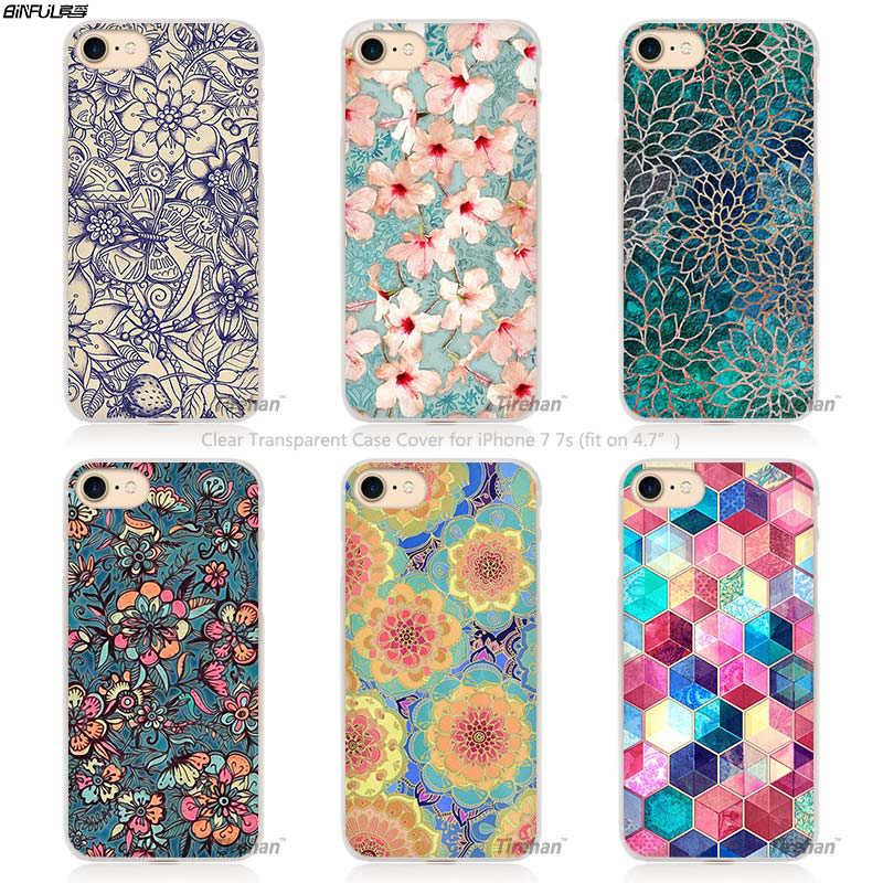 64da5b3f5 Mandala Flower Datura Floral Hard Transparent Phone Case Cover Coque for Apple  iPhone 4 4s 5