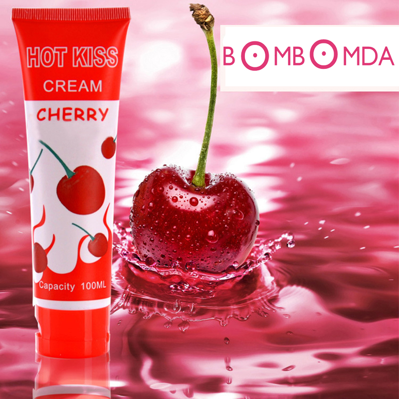 100ML Sex lubricating oil goods Cherry Flavor body lubricating oil male female of edible anal sex lubricant adult cream O2