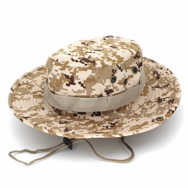 Los hombres de sombrero de cubo de pesca al aire libre montañismo táctico  sombreros Panamá sombrero c2473b1c8ee