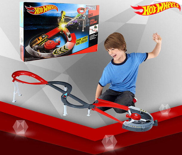 все цены на Hot Wheels Roundabout Track Toys Model Cars Classic Toy Car Birthday Gift For Children Pista Hotwheels Juguetes X2589 онлайн