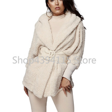 Fleece Two Piece Set Long Sleeve Hooded Cardigan Coat AQ01