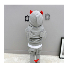 Hot sale children clothes boys trend garments units lengthy sleeves t-shirt + pants good-looking units cute wings modeling