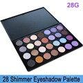 Envío gratis! dropshipping! Pro de 28 colores de alto brillo del pigmento de ojos glitter eyeshadow makeup palette 28 G