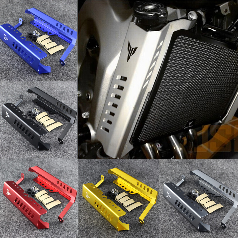 MT 09 MT09 Aluminum Black Radiator Grille Cover Guard Protector For Yamaha MT-09 FZ09 FZ-09 FZ 09 2014 2015 2016 2017 for yamaha mt09 mt 09 fz09 radiator grille grill cover protector guard with side guard fz09 2013 2014 2015 mt09 mt 09 fz09 fz 09