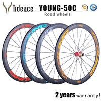2017 Carbon Road Wheelset 50mm Tubuless Or Clincher With Novatec 291 hubs Basalt Brake Carbon road bike wheels 27.25mm width