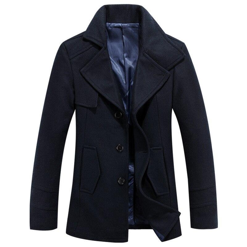 New Arrival Medium Length Brand Winter Mens Wool O...