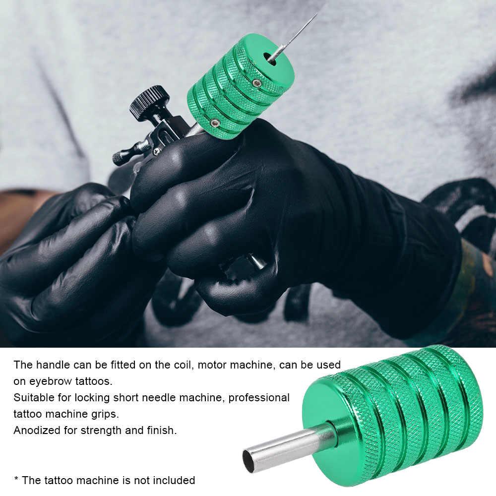 Poignée de Machine de tatouage d'alliage d'aluminium de 35mm poignée pour des armes à feu Tube aiguille de tatouage accessoires rotatifs et hélicoïdaux fournitures 3 couleurs