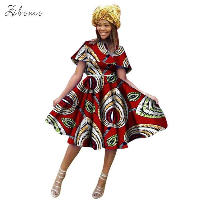 African dresses for women wax fabric print banquet formal maxi plus big  size african clothing dashiki ankara short dress headtie 9d01951432df