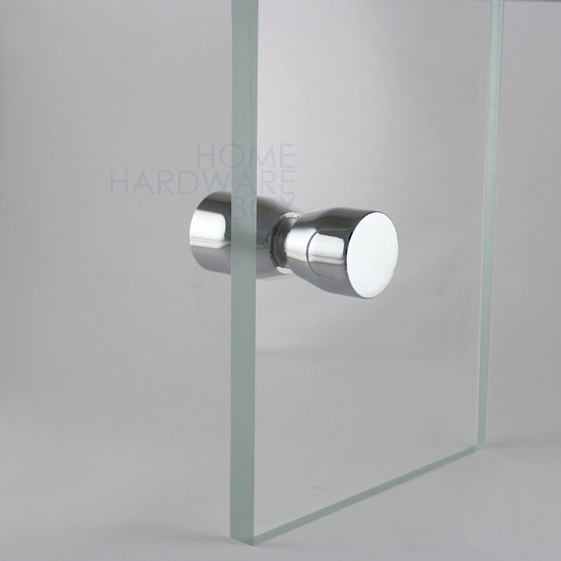 Shower Glass Door Knob Chrome Plated Back To Back Crl Polished Metal