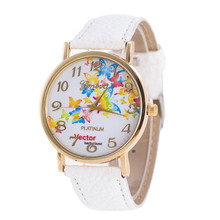 Часы кварцевые Montre Femme Для женщин наручные часы Мода бабочки кожаный браслет часы Ретро Бренд 9 Цвета