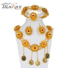 MUKUN Dubai Jewelry Sets Fashion Necklace Pendant earrings Bridal jewelry sets Nigeria Wedding African Beads design