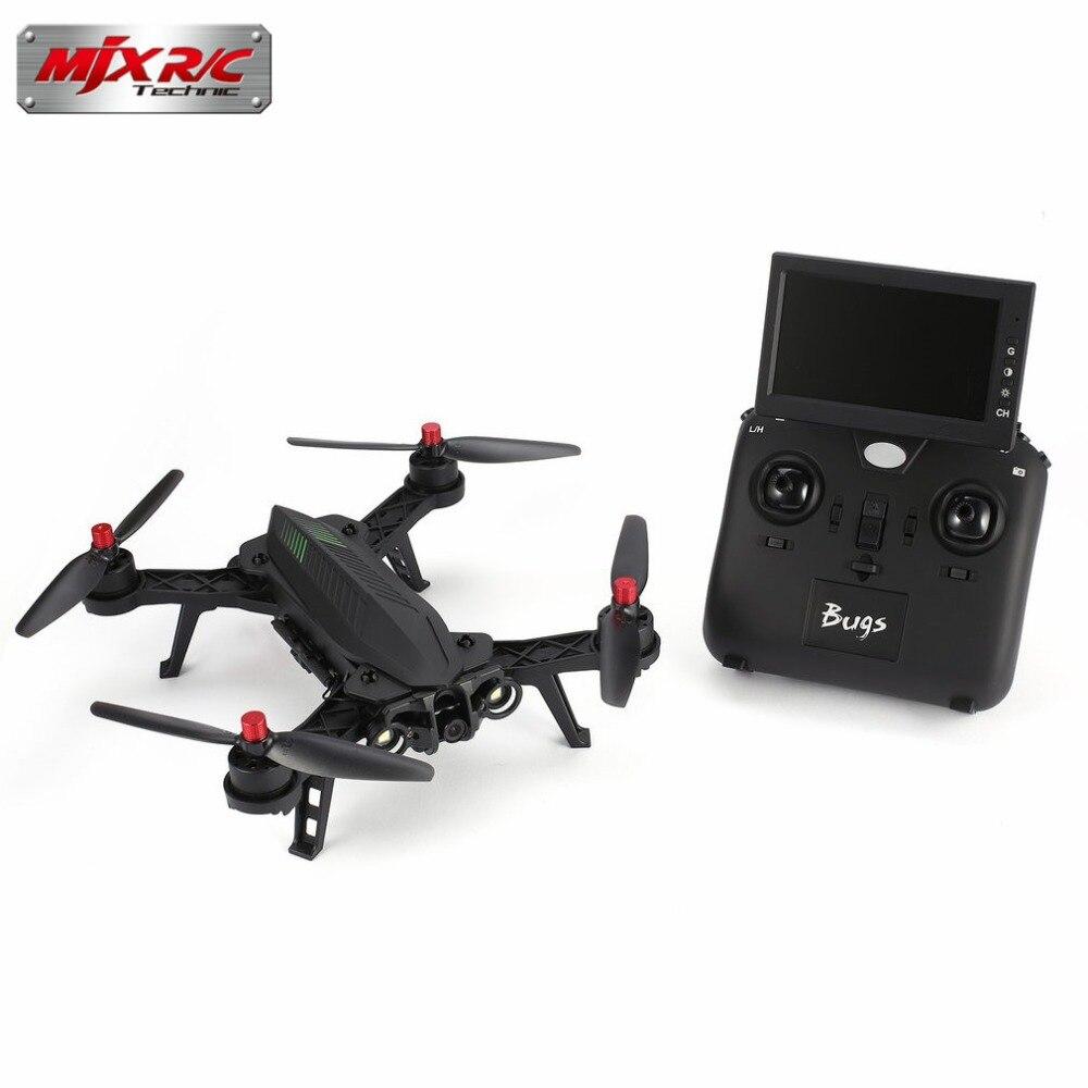 MJX Bugs 6 B6FD 2.4 ghz 4CH 6 Axe Gyro RTF Drone Avec HD 720 p 5.8g FPV Caméra et 4.3 LCD RX Moniteur Brushless RC Quadcopter salut