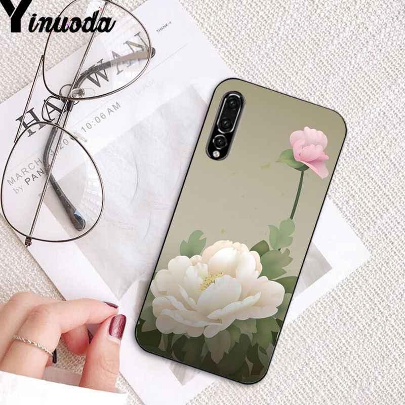 Yinuoda Peony Sunflowe Rose Daisy พืชดอกไม้โทรศัพท์สำหรับ Huawei P20Lite P10Plus Mate9 10 Mate10 Lite P20Pro Honor10 View10