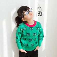 Funfeliz Toddler Girls Sweater Winter Angry Cat Sweater for Boys 2018 Baby Knitwear Pullover  Children Cardigan Kids Clothes цены онлайн