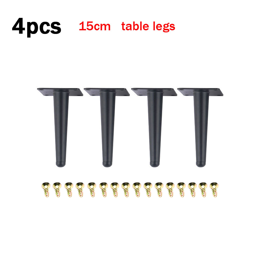 4Pcs Black Furniture Legs Replacement Stainless Steel Sofa Couch Feet 150mm4Pcs Black Furniture Legs Replacement Stainless Steel Sofa Couch Feet 150mm