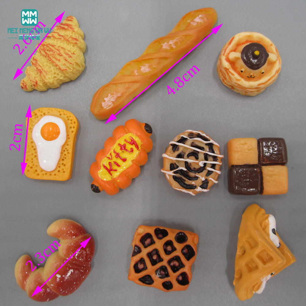 2cm-5cm Mini Simulation Pastry Bread Ice Cream Simulation Food For 1/3 1/4 1/6 Bjd Doll And Kelly Furniture Monster Hight Dolls
