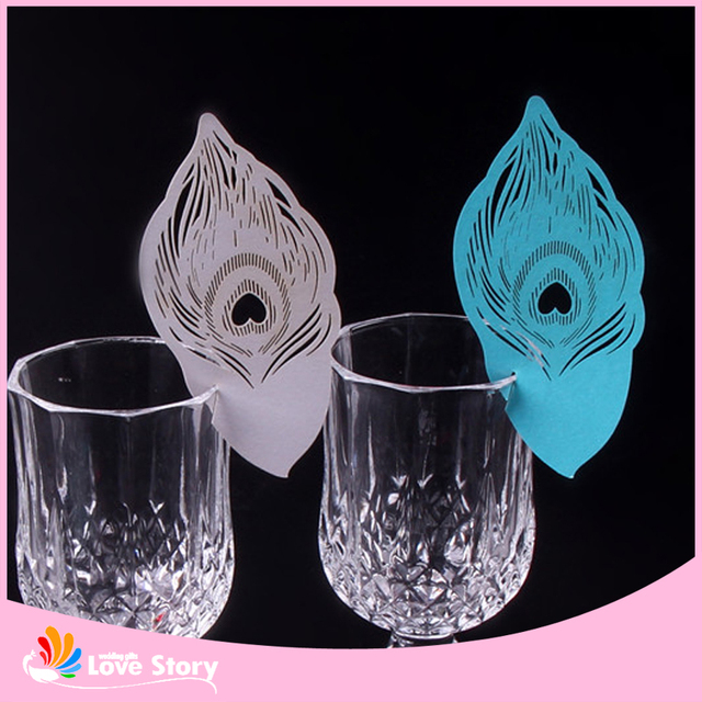 25pcs Laser Cut Wine Glass Card Name Place Escort Cards Wedding
