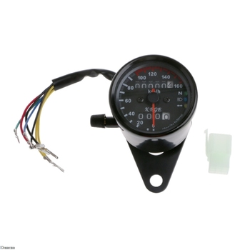 DC 12V Universal Motorcycle Speedometer Odometer Dual LED Backlight Speed Gauge kmh Damom old school motorcycle gauges