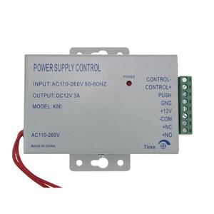 Image 4 - 12V 3A adattatore di alimentazione 10 tag impermeabile Biometrico di Impronte Digitali RFID reader 125KHZ EM IC 13.56mhz serratura Della Porta sistema di Controllo di accesso