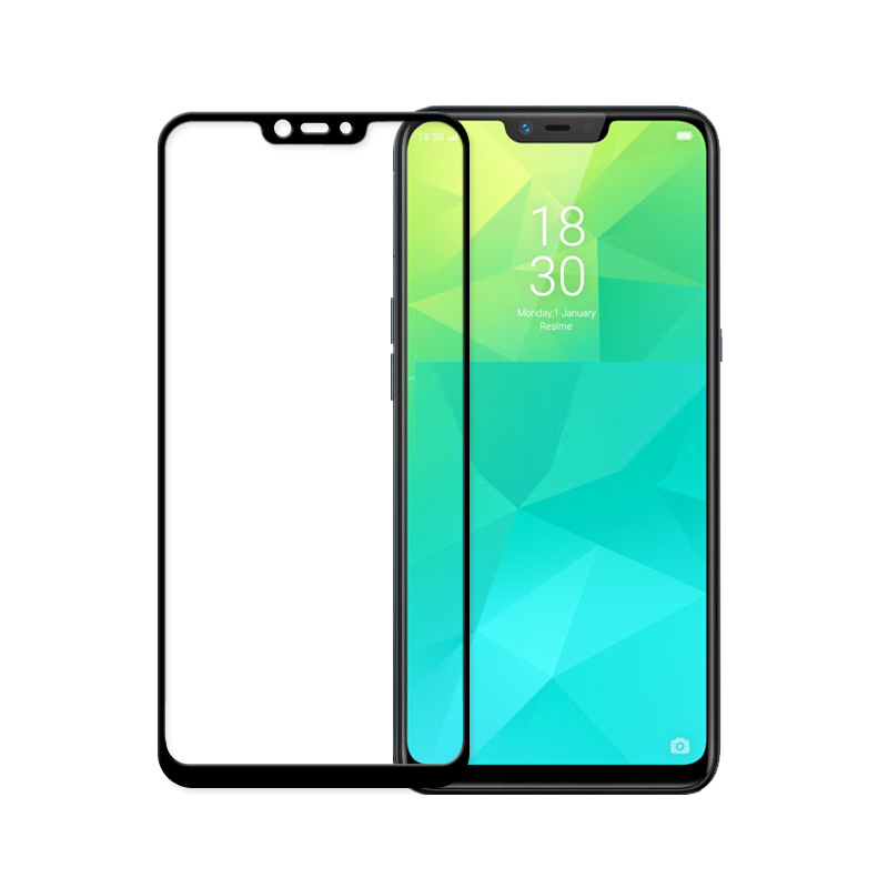 Full Glue Tempered Glass For OPPO Realme 2 Full Cover 9H Protective film Screen Protector For OPPO Realme C1