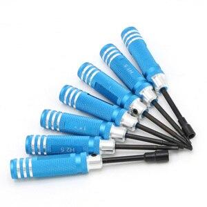 Image 4 - Hex 7pcs schraube fahrer tool kit Für RC hubschrauber Auto BK Rot blau schwarz für Rc Spielzeug Rc Drone