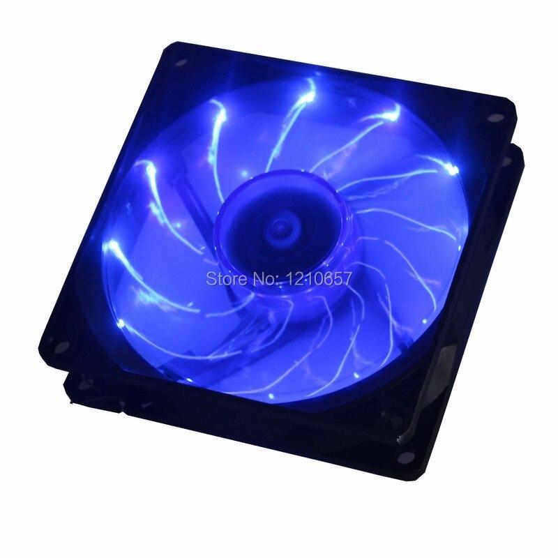 купить 1PCS Gdstime 90mm LED Blue 3pin PC Desktop Computer Case Cooling Cooler Fan Low Noise 92x25mm недорого