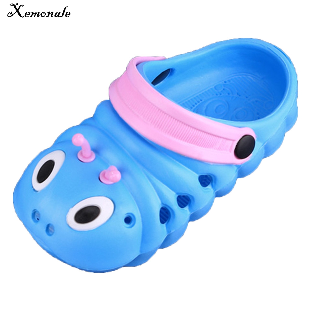 9ad4b2ce45b5 Xemonale 2018 Summer Boys Girls Sandals Shoes Caterpillar Anmial Cartoon  Style Children Baby Shoes Child Slipper Breathable