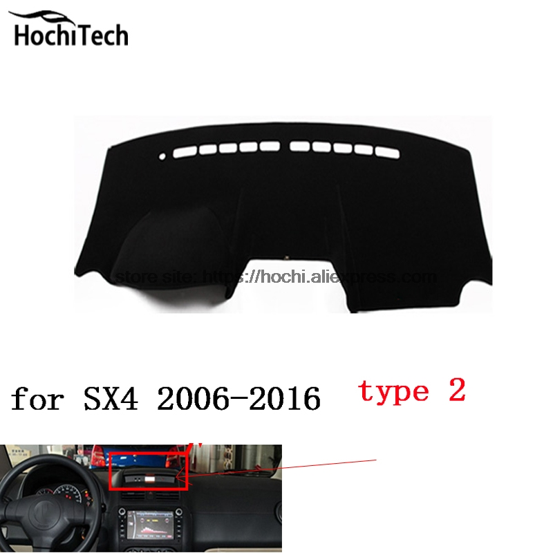 dashboard mat Protective pad Shade Cushion Photophobism Pad car styling accessories for Suzuki SX4 2006-2016 for toyota prius 2012 2013 right hand drive dashboard mat protective pad black car styling interior refit sticker mat products