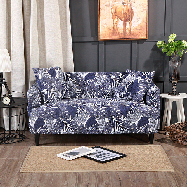 Captivating Tropical Leaves Couch/Corner Sofa Slipcovers Polyester Elastic Sectional  Sofa Covers Anti Dirty Plants