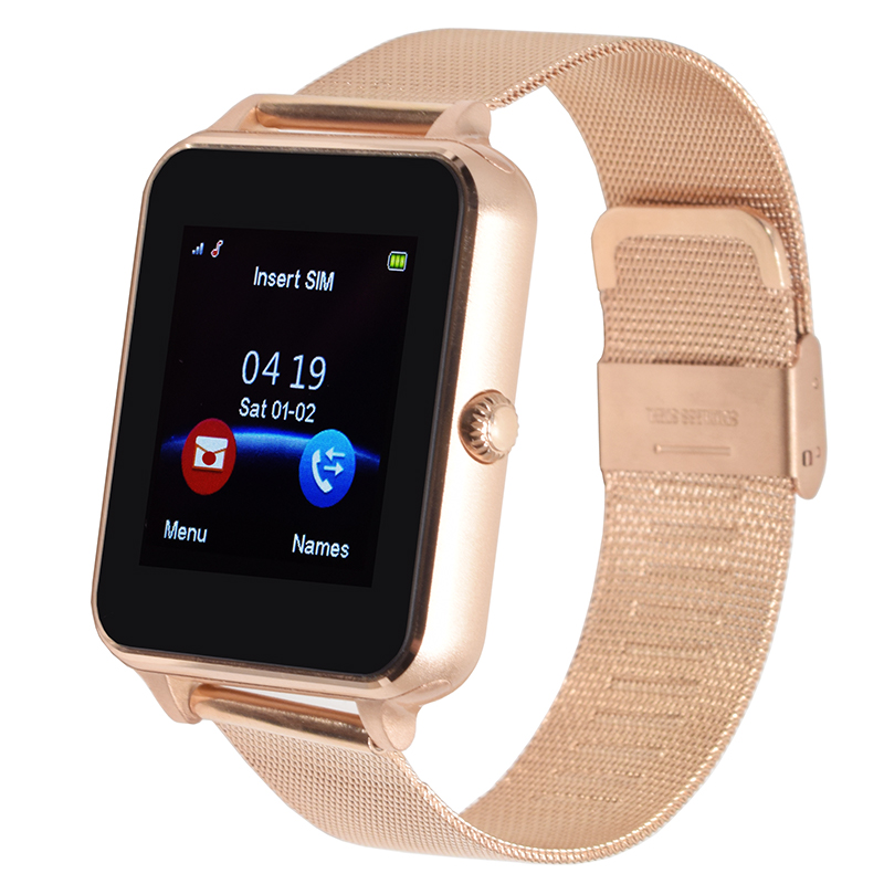 d5399cdd9d7ac E6 smart watch for android phone sport reloj inteligente Support TF SIM  card Steel leather strap Wearable Electronics PK GT08 A1 wholesale smart watch  watch ...