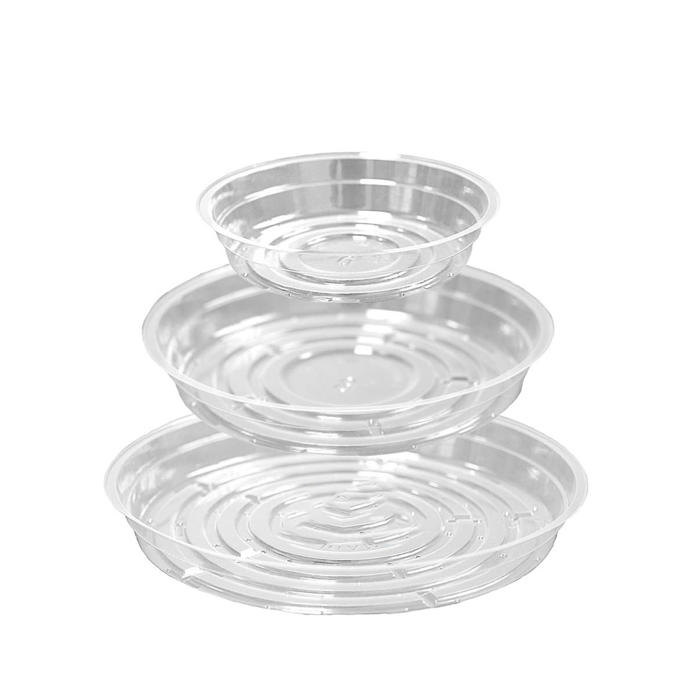 Clear Plant Saucers -  8