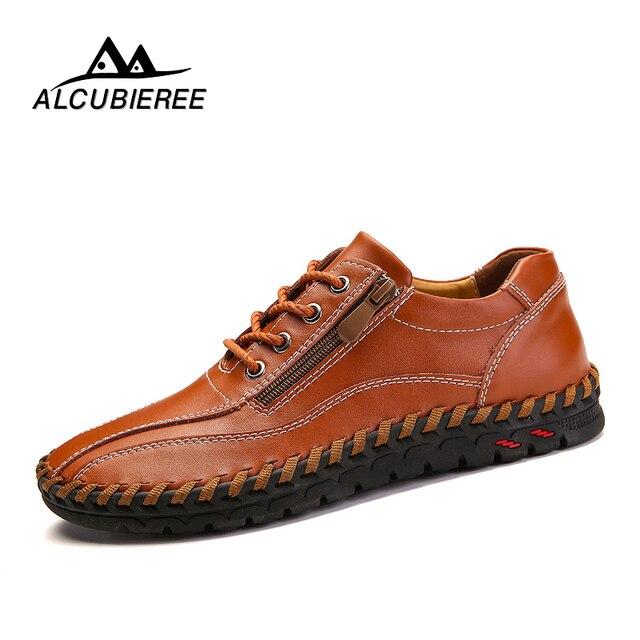2018 Mode Comfortabele Casual Schoenen Loafers Mannen Schoenen Kwaliteit Split Lederen Schoenen Mannen Flats Hot Koop