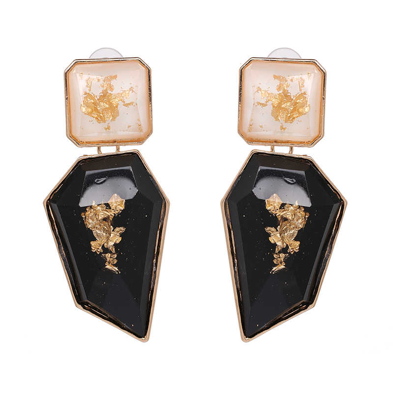 JURAN Exaggerated Big Geometric Statement Dangle Earrings For Women Boho Clear Resin OL Style Earrings 2018 ZA Jewelry