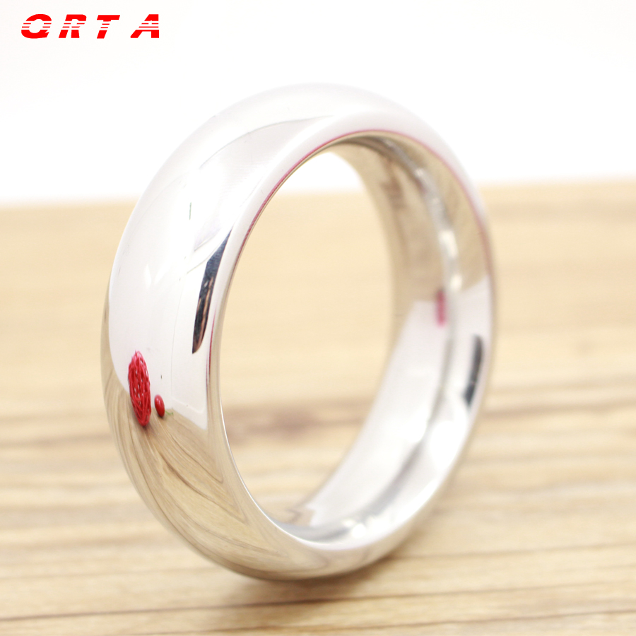 QRTA Stainless Steel Cock Ring Round 40/45/50mm Time Delay Cock Rings Male Sex Toys Penis Rings Erotic Sex adult Products
