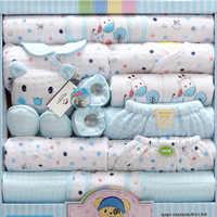 18 предметов, комплект одежды для новорожденных девочек и мальчиков, 100% хлопок, одежда для мальчиков младенцев, костюм Одежда для маленьких д...