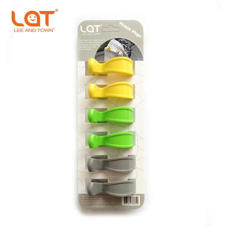 LAT 6-pack Pram Stroller Pegs To Hook Muslin and Toys Seat Cover <font><b>blanket</b></font> Clips Car Organizer Accessories