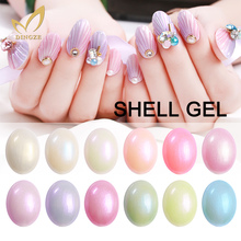 Soak Off Shell UV Nail Polish Long Lasting Pearl Gel Polish Hot Gel For Fashion Nails Style 12 Colors Gel For Choose